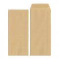BESFORM Brown Envelope - Gummed 4'' x 9'' (Pack of 20)