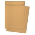 BESFORM Brown Manila Envelope - Gummed 12'' x 16'', 3's