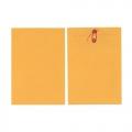 """BESFORM Gold Kraft Envelope, String Button 9x12.75"""" 3's"""