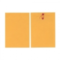 BESFORM Gold Kraft Envelope-String Button 10'x15'', 3's