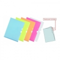 Plus Folder with Divider Blue