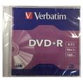VERBATIM DVD+Recordable 16X, Slim Case 1's