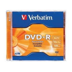 VERBATIM DVD-Recordable Jewel Case (Pack of 1) 16X - 8.5GB