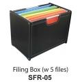LA VIDA Filing Box SFR-05 (Black)
