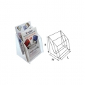"STZ Acrylic Leaflet Holder 50835 61/4"" 2-Tier"