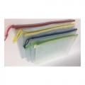 POP Bazic Clear PVC Soft Mesh Bag A5 Green