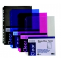 Pop Bazic 11-Hole Binder Carry File A4 3008 Blue