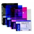 POP BAZIC 11-Hole File w/Velcro, A4 (Clr)