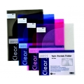 POP BAZIC Twin Pocket Folder, A4 (Clear)