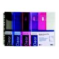 Pop Bazic 11-Hole Binder Carry File A4 3013 Blue