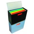 POP BAZIC File Organizer Box, A4 (Black)