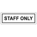 """COSMO Acrylic Signage """"STAFF ONLY"""""""
