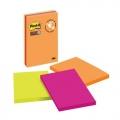 3M Post-it S. Sticky Note 660-3SS 4''x6'', Jewel (3 Pads)