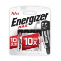 Energizer Max Battery AA (PKT4)