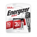 Energizer Max Battery AAA (PKT 4)