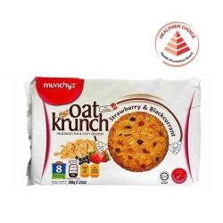 MUNCHY'S Oat Krunch-Strawberry & BlackCurrant (Pack of 8)