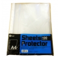 POP Bazic 11-Hole Sheet Protector A4 Clear 100's