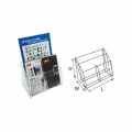 "STZ Acrylic Leaflet Holder 50837 A4 + 4"" 3-Tier"
