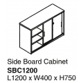 Side Board Cabinet with Lock SBC1200 Grey