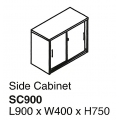 Side Cabinet with Lock SC900 Cherry