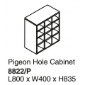 Pigeon Hole Cabinet 8822/P Grey