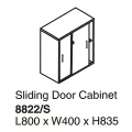 Sliding Door Cabinet with Lock 8822/S Grey