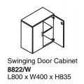 Swing Door Cabinet with Lock 8822/W Beech