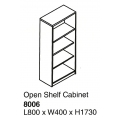 Open Shelf Cabinet 8006 Cherry