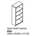 SHINEC Open Shelf Cabinet 8006 (Cherry)