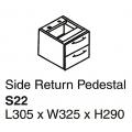 SHINEC Side Return Pedestal S22 (Cherry)