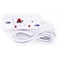 MORRIES 2-Way Extension Cord 2828-3, 3m
