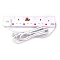 MORRIES 4-Way Extension Cord 4848-3, 3m
