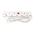 MORRIES 5-Way Extension Cord 5858-3, 3m