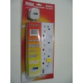 MORRIES 3-Way Extension Cord 3838-6, 6m