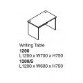 SHINEC Writing Table 1200 (Cherry)