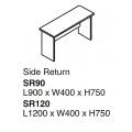 SHINEC Side Return  Table SR120 (Grey)