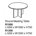 Round Meeting Table R1000 Grey