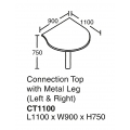 Connection Top with Metal Lag (Left & Right) CT1100 Grey