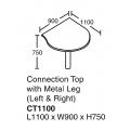 SHINEC Connection Top w/ Metal Leg 1100 (Beech)