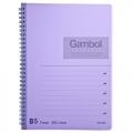 GZ Gambol Twin Ring Notebook B5, Purple
