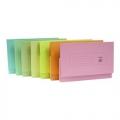 POP BAZIC Paper Pocket File, F4 5's (Grn)