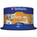 VERBATIM DVD-R 16X Printable, Spindle 50's