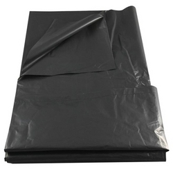 "Black Trash Bag 36""x48'', est. 20's"