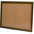 Cork Notice Board w/ Sliding Glass, 3'x4'