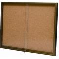 Cork Notice Board w/ Sliding Glass, 3'x6'
