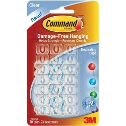 3M COMMAND 17026CLR CLEAR DECORATING