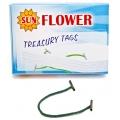 "Sun Flower Treasury Tag 6"" 100pcs (Grn)"