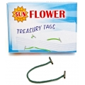"Sun Flower Treasury Tag 8"" 100pcs (Grn)"