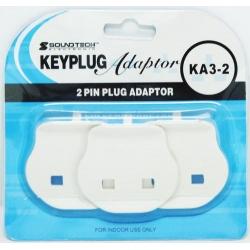 2 Pin Plug Adaptor 3's KA3-2
