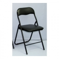 Folding Chair with Cushion 291 (Black)